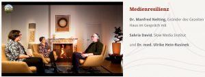 Sabria David im Kamigespräch mit Dr. med. Ulrike Hein-Rusinek und Dr. Manfred Nelting